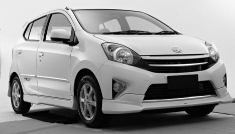 Toyota agya depan