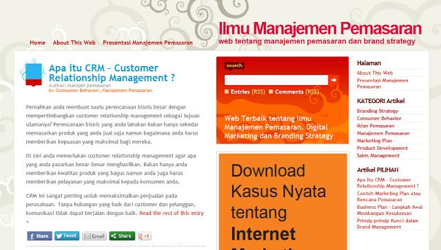 Manajemen Pemasaran di Ahlimanajemenpemasaran.com
