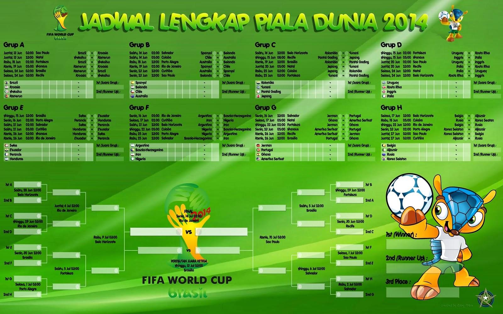 Jadwal lengkap piala dunia 2014 brasil   berita bola   egrafis.
