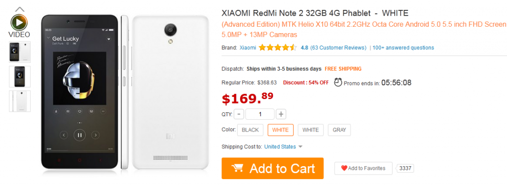 xiaomi redmi Time limitDiscount : 54% OFF