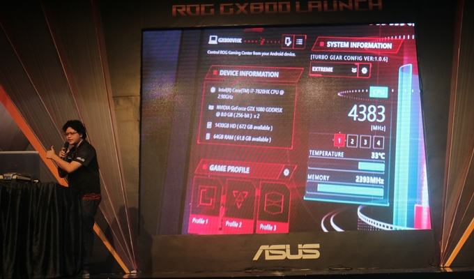 overclock via asus rog gaming centre