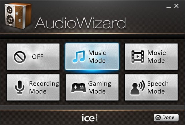 audio-wizard mode