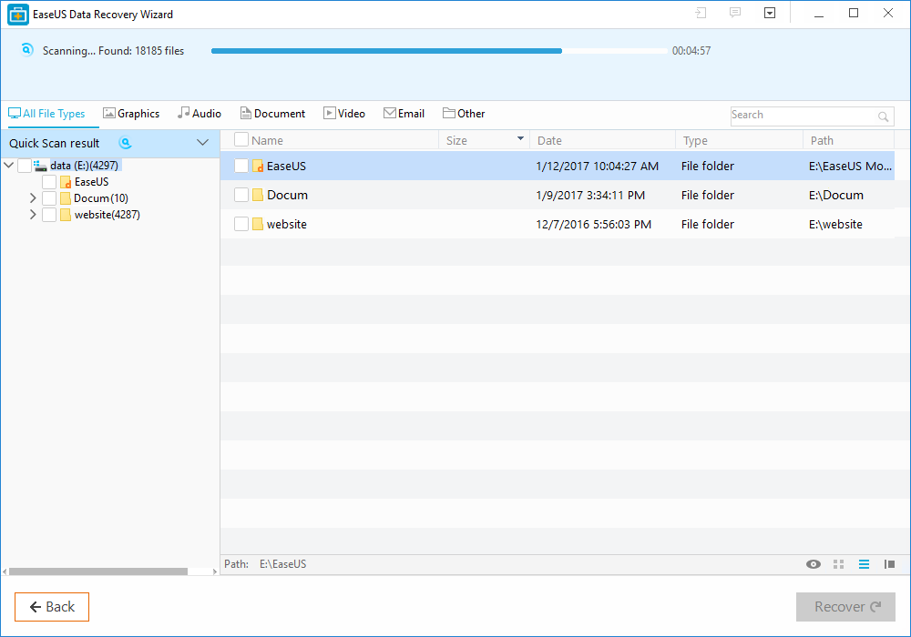 EaseUS Data Recovery Wizard--
