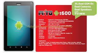 Spesifikasi,Harga Mito T600 dual GSM
