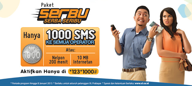 Paket Nelfon,SMS,Internet Xl Serba Seribu