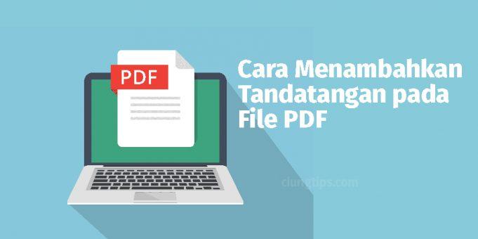 cara menambahkan tanda tangan pdf