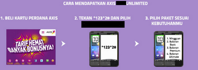 cara aktivasi internet axis unlimited