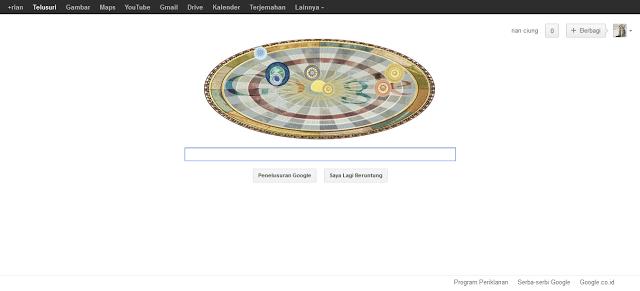Google Doodle hari ini Rayakan Ulang Tahun Copernicus