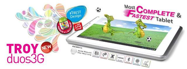 Spesifikasi Harga Tabulet Troy Duos 3G