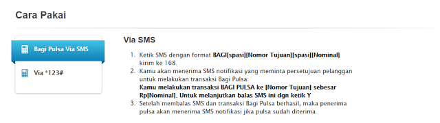 Cara transfer pulsa XL via sms