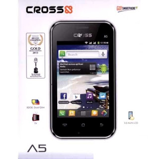 Cross A5,Hp Android 500 ribuan Dual SIM dan TV analog