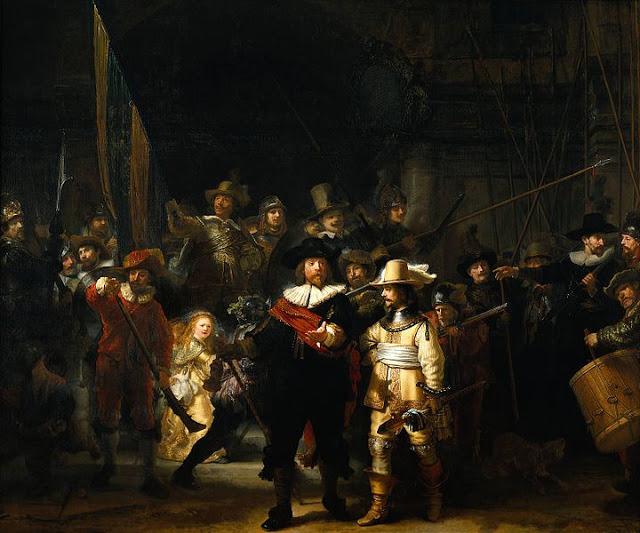 lukisan rembrandt : Jaga Malam (