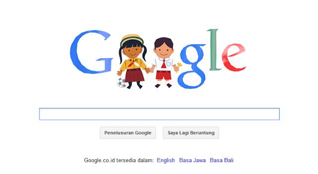Hari Anak Nasional Ikut Diperingati Google Doodle Hari ini