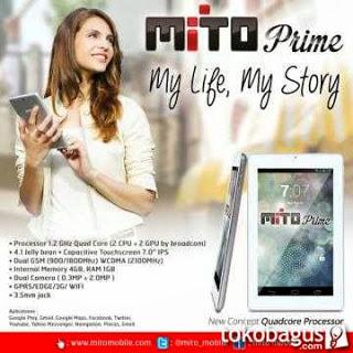 Spesifikasi,Harga Mito Prime T330 Tablet Quadcore