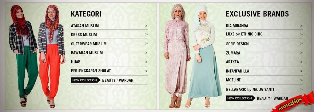 """Belanja Busana Muslim Wanita Zalora"""