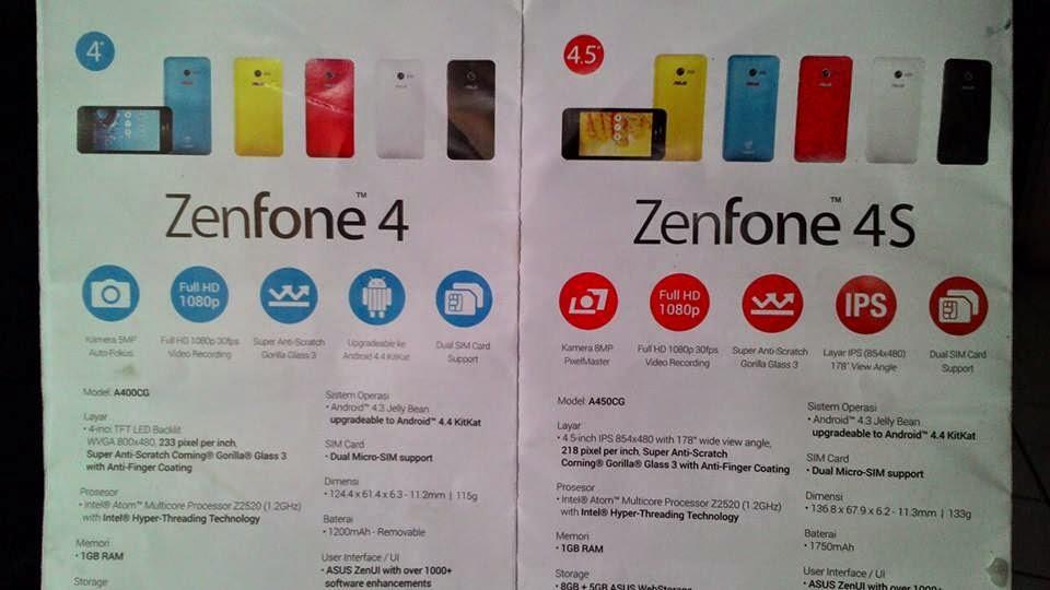 """""""Spesifikasi ASUS Zenfone 4s Smartphone Android Terbaik"""""""