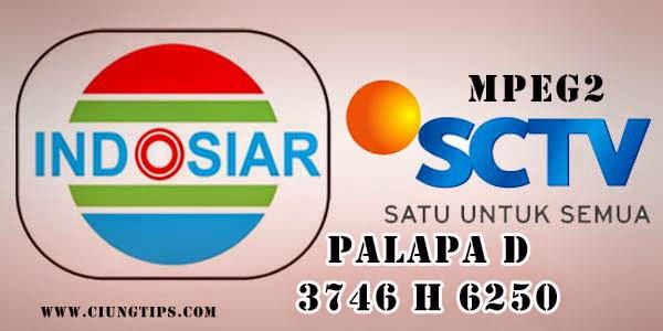 """Prekuensi Terbaru Indosiar MPEG2 dan SCTV MPEG2 Satelit Palapa"""