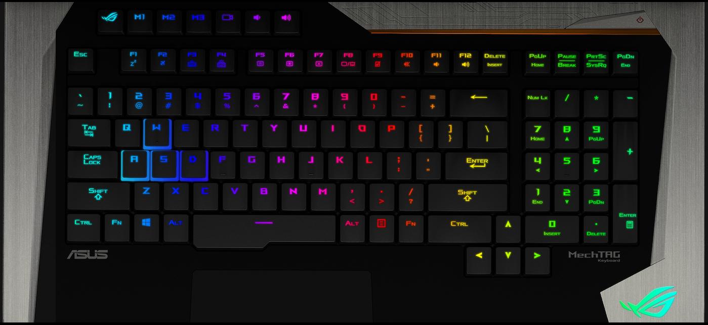 keyboard rog gx800