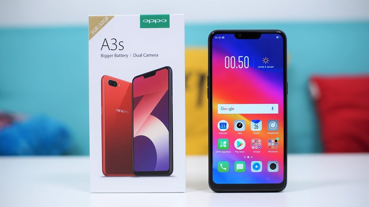 oppo a3s unboxing