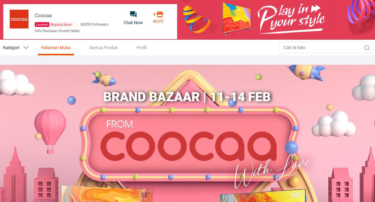 lazada coocaa flagship store