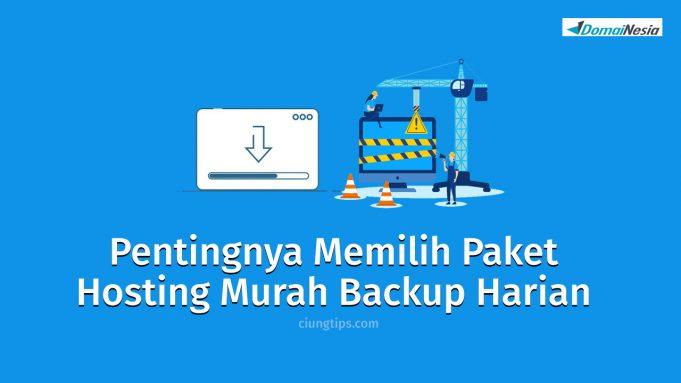 paket hosting murah backup harian