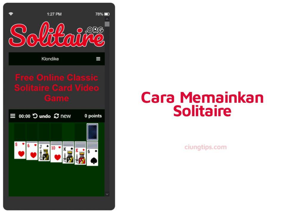 cara bermain solitaire