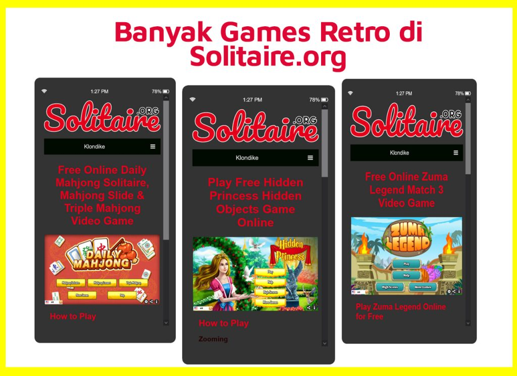 game lain di solitaire.org